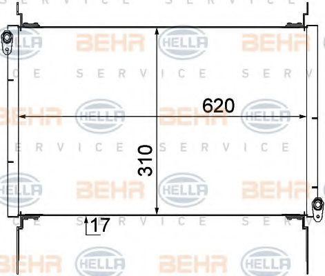 Радиатор кондиционера HELLA 8FC 351 309-091