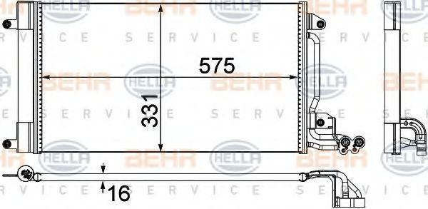 Радиатор кондиционера HELLA 8FC 351 309-131