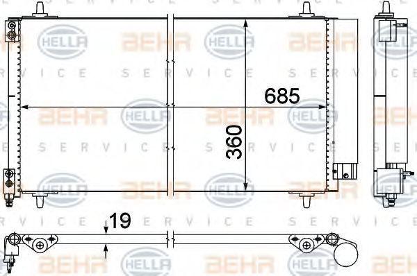 Радиатор кондиционера HELLA 8FC351309401