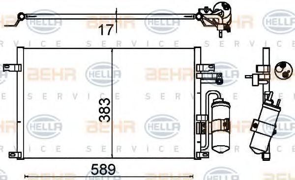 Радиатор кондиционера HELLA 8FC351310-721