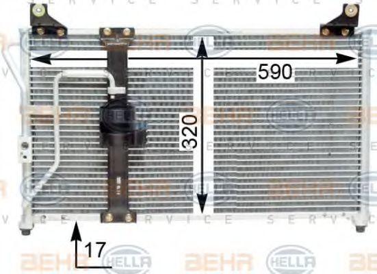 Конденсатор, кондиционер HELLA 8FC351310781