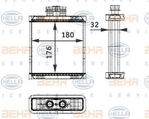 Радиатор отопителя салона HELLA 8FH 351 311-111
