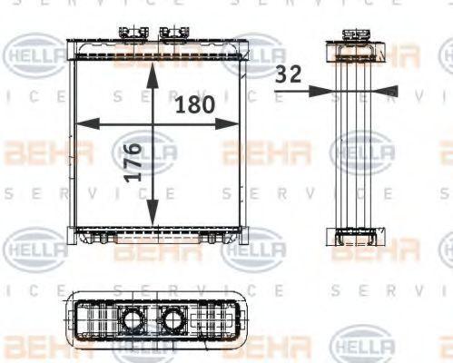 Теплообменник, отопление салона HELLA 8FH351311121