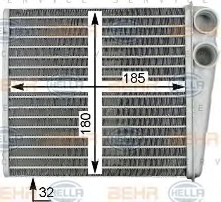 Радиатор отопителя салона HELLA 8FH 351 315-781