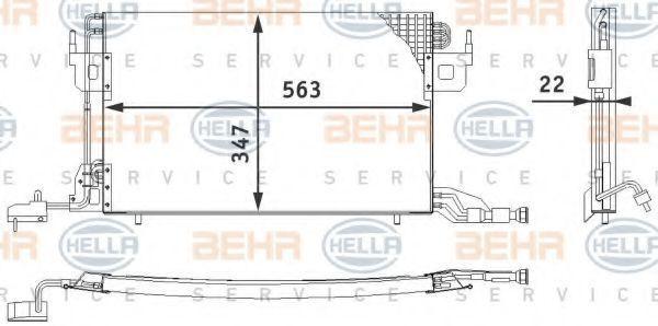 Радиатор кондиционера HELLA 8FC 351 317-011