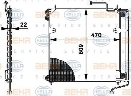 Радиатор кондиционера HELLA 8FC 351 317-021