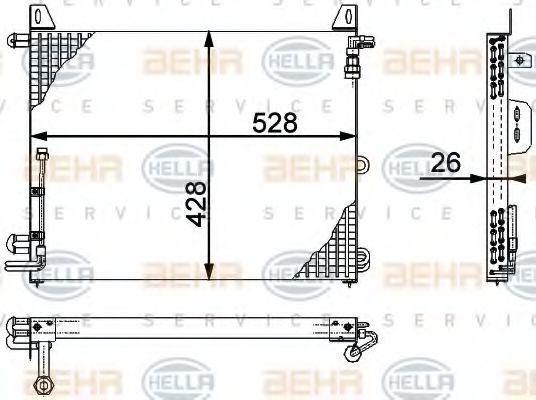 Радиатор кондиционера HELLA 8FC 351 317-181