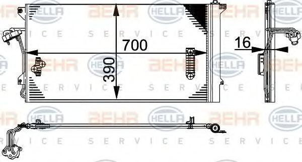 Радиатор кондиционера HELLA 8FC 351 317-464