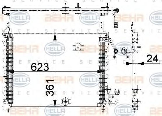 Радиатор кондиционера HELLA 8FC 351 318-031