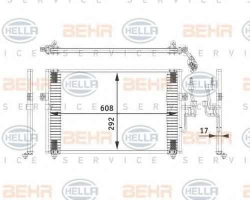 Радиатор кондиционера HELLA 8FC 351 318-051