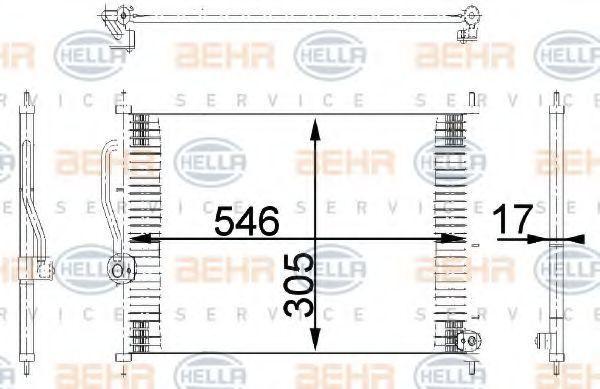 Радиатор кондиционера HELLA 8FC 351 318-081