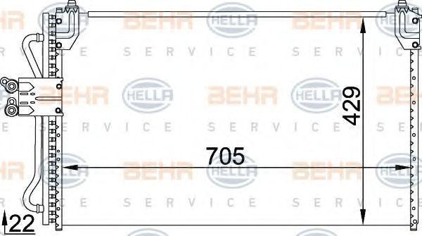 Конденсатор, кондиционер HELLA 8FC351318321