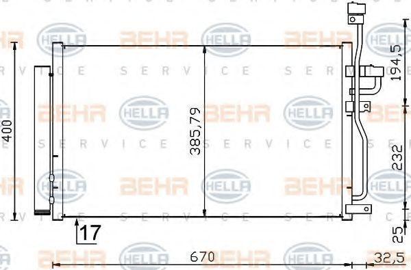 Радиатор кондиционера HELLA 8FC351319-191