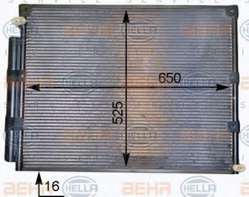 Конденсатор, кондиционер HELLA 8FC351319351