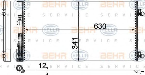 Конденсатор, кондиционер HELLA 8FC351319641
