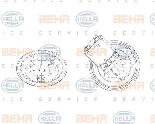 Блок управления вентилятором печки HELLA 5HL 351 321-301