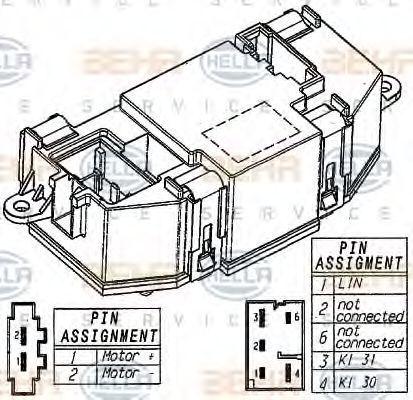 Блок управления вентилятором печки HELLA 5HL 351 321-521