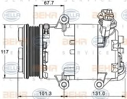 Компрессор кондиционера HELLA 8FK351334041