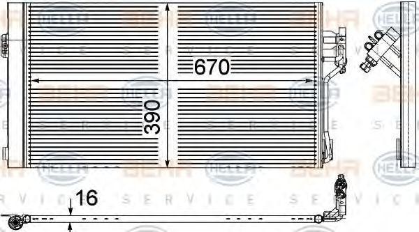 Конденсор кондиционера HELLA 8FC351343004