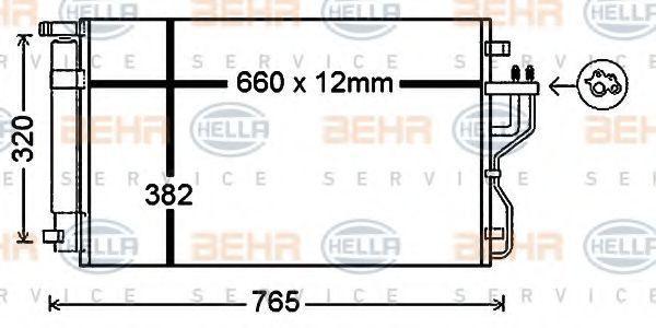 Конденсор кондиционера HELLA 8FC351343091