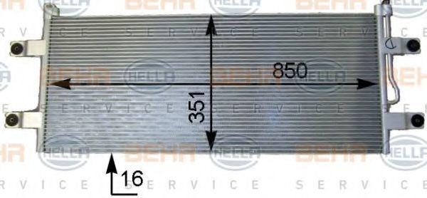 Конденсатор, кондиционер HELLA 8FC351343221