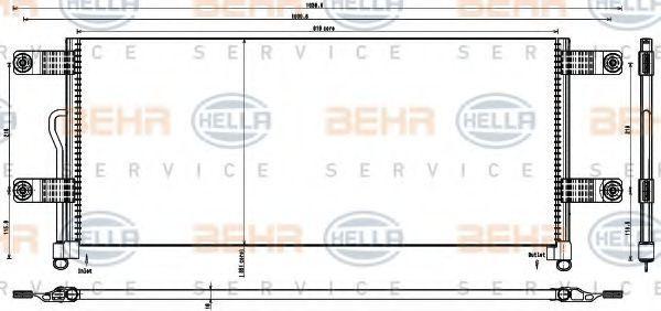 Конденсатор, кондиционер HELLA 8FC351343231