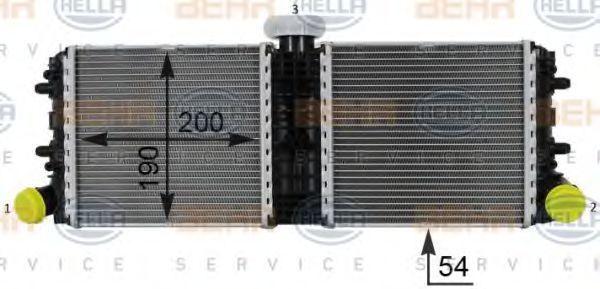 Радиатор, охлаждение двигателя HELLA 8MK376701251