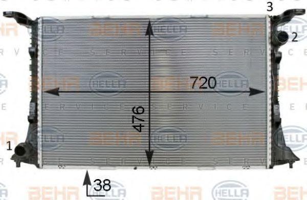 Радиатор охлаждения HELLA 8MK 376 701-341
