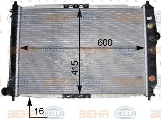 Радиатор, охлаждение двигателя HELLA 8MK376704831