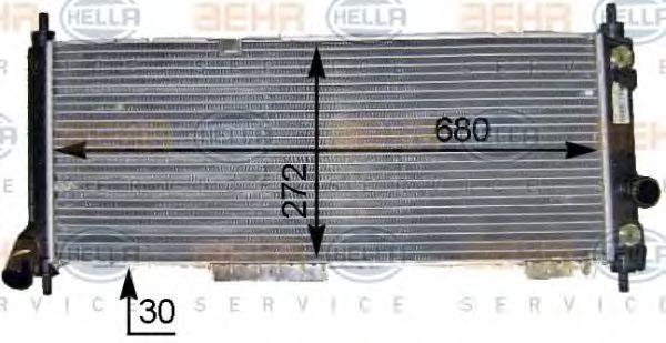 Радиатор, охлаждение двигателя HELLA 8MK376704841
