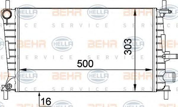 Радиатор охлаждения HELLA 8MK 376 707-321