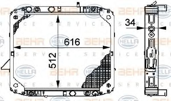 Радиатор охлаждения HELLA 8MK376709711