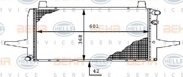 Радиатор охлаждения HELLA 8MK 376 710-471