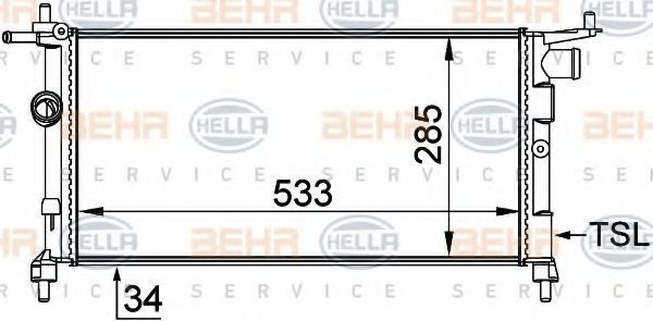 Радиатор охлаждения HELLA 8MK376712004
