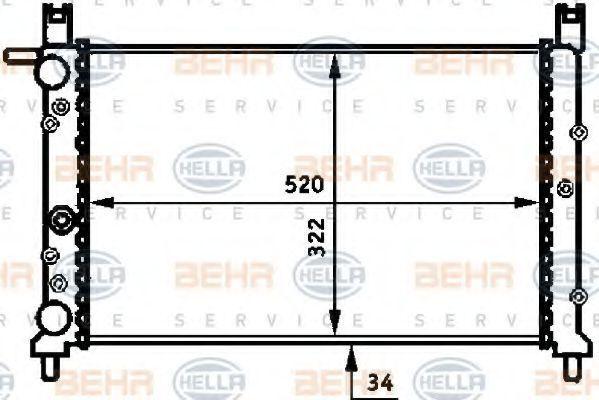Радиатор охлаждения HELLA 8MK376713531