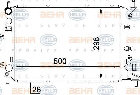 Радиатор охлаждения HELLA 8MK376714171