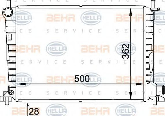 Радиатор охлаждения HELLA 8MK 376 714-241