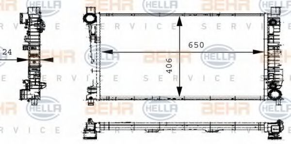 Радиатор охлаждения HELLA 8MK376714331