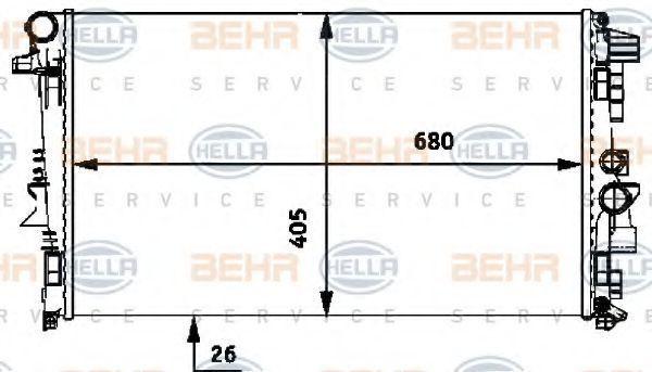 Радиатор охлаждения HELLA 8MK 376 719-741