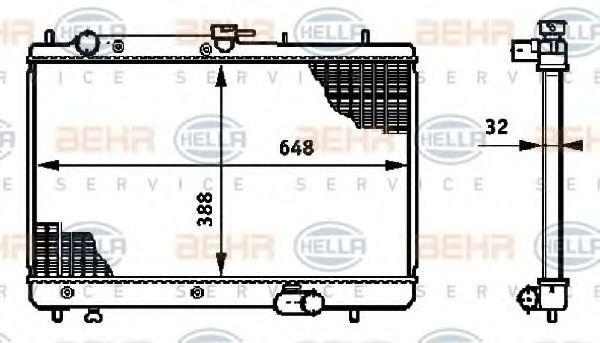 Радиатор охлаждения HELLA 8MK376719771
