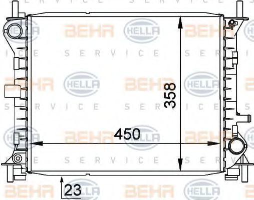 Радиатор охлаждения HELLA 8MK376720281