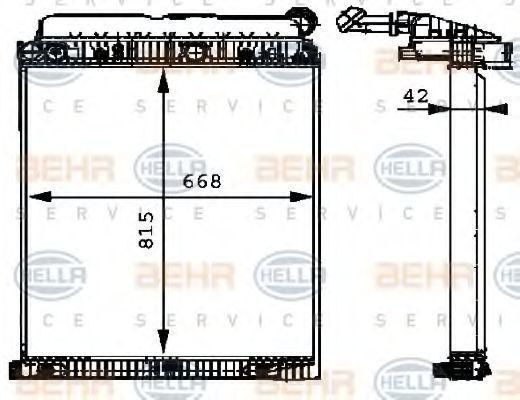 Радиатор охлаждения HELLA 8MK376721261