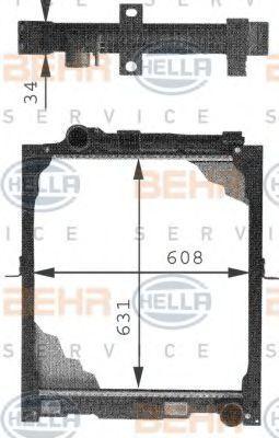 Радиатор охлаждения HELLA 8MK 376 721-281