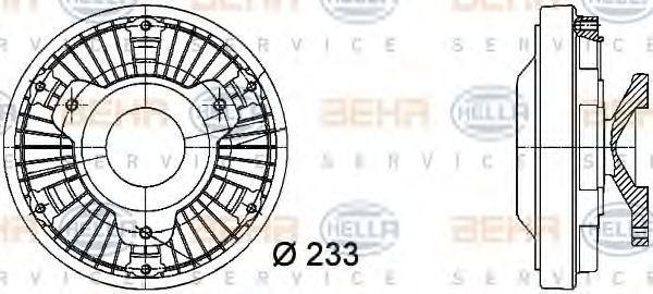 Сцепление, вентилятор радиатора HELLA 8MV376728381