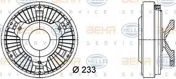 Сцепление, вентилятор радиатора HELLA 8MV376728401