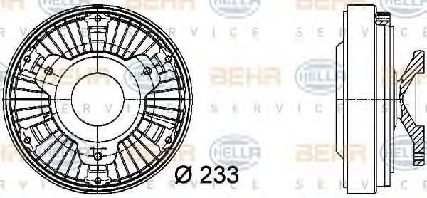 Сцепление, вентилятор радиатора HELLA 8MV376729481