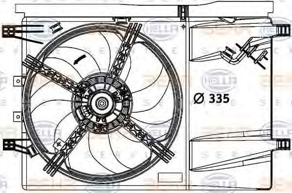 Вентилятор охлаждения двигателя HELLA 8EW376729641