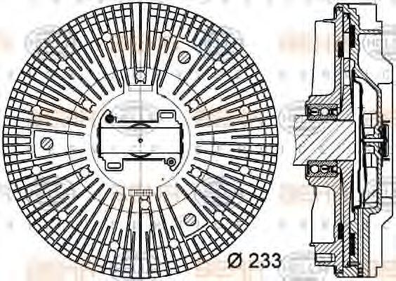 Сцепление, вентилятор радиатора HELLA 8MV376730101