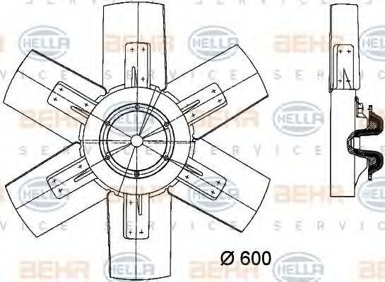 Вентилятор радиатора HELLA 8MV376730261