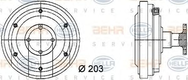 Вискомуфта HELLA 8MV376731351